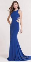 Alyce Paris Jersey Strappy Back Column Evening Dress