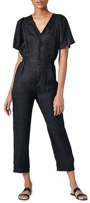 Joie Linen Cropped Jumpsuit