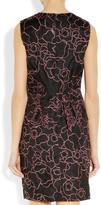Diane von Furstenberg Leni embroidered silk-organza peplum dress