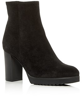 La Canadienne Women's Myranda Waterproof Suede High Block-Heel Platform Booties