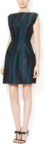 Lanvin Cotton Paneled Boatneck Dress