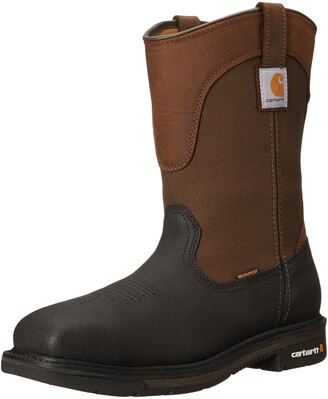 "Carhartt Men's 11"" Wellington Square Safety Toe Leather Work Boot CMP1258"
