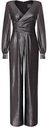 Adrianna Papell Metallic Jersey Jumpsuit