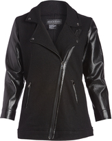 Live A Little Black Wool-Blend Moto Jacket - Plus