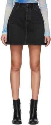Acne Studios Black Bla Konst Denim High-Rise Miniskirt