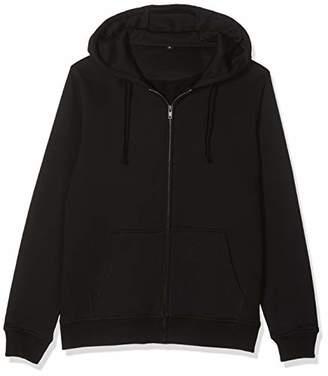 Build Your Brand Men's Merch Zip Hoody Jacket,4X-Large