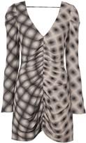 Eckhaus Latta V-neck patterned dress