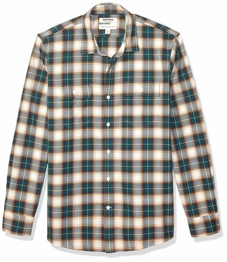 Goodthreads Men's Standard-Fit Long-Sleeve Plaid Herringbone Shirt