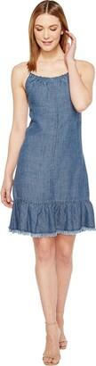 Trina Turk Women's Softly Chambray Halter Dress