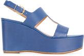 Salvatore Ferragamo Fiamma sandals - women - Calf Leather/Leather - 8.5