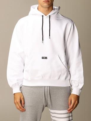 GCDS Cotton Sweatshirt With Embroidered Logo