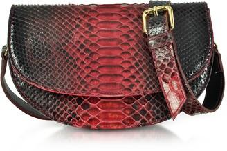 Ghibli Python Leather Half-Moon Shoulder/Belt Bag
