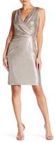 Donna Ricco Asymmetrical Twist Waist Midi Dress