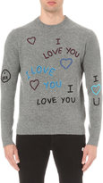 Kenzo I Love You-embroidered Wool Jumper