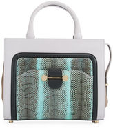 Jason Wu Daphne Watersnake & Leather Crossbody Tote Bag, Glass