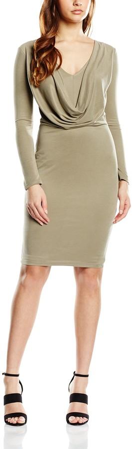 Lipsy Women's Everyday Cowl Bodycon Dress