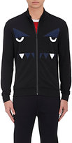 Fendi Men's Monster Eyes Jersey Track Jacket-BLACK