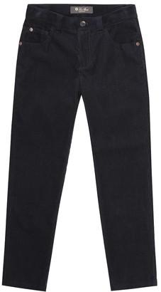 Loro Piana Kids 5 Tasche Slim corduroy pants