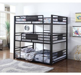 Coaster Company Coaster Rogen triple bunk bed in full. Finished in dark bronze, contructed with steel.
