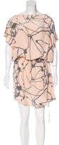 Robert Rodriguez Abstract Print Silk Dress