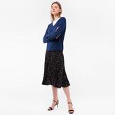 Paul Smith Women's Navy Cotton V-Neck Sweater