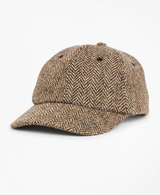 Brooks Brothers Harris Tweed Herringbone Baseball Hat