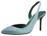 Gucci Crystal-Covered Pump, Green