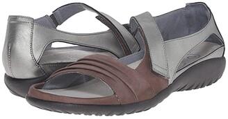 Naot Footwear Papaki (Black Velvet Nubuck/Cinnamon Leather) Women's Shoes