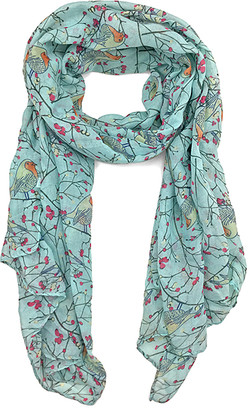 East Cloud Women's Accent Scarves Aqua - Aqua Bird Scarf
