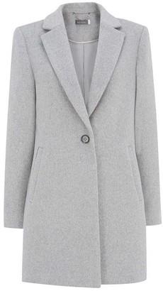 Mint Velvet Light Grey Boyfriend Coat