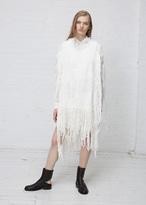 Ann Demeulemeester Multi Yarn White Fringe Tunic
