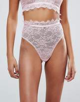Asos Eyelash Lace Highwaist Thong