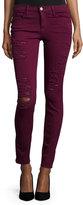 Frame Le Color Rip Skinny Distressed Jeans, Port