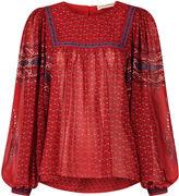 Ulla Johnson Scarlet Silk Printed Minou Blouse