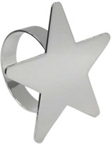 Christmas Shop Décor-4pc Star Napkin Ring Box Silver
