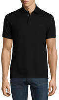 Ralph Lauren Snap/Zip Pique Polo Shirt, Black