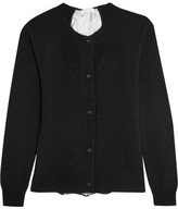 Clu Lace-paneled Wool And Cashmere-blend Cardigan - Black