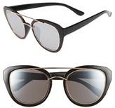 BP Women's 50Mm Metal Trim Sunglasses - Black Gold