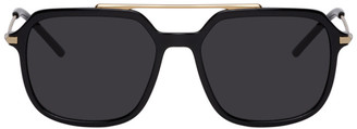 Dolce & Gabbana Black and Gold Slim Sunglasses