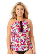 ALLURE BY IMG Allure By Img Floral Tankini Swimsuit Top-Juniors Plus
