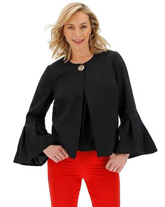 Capsule Black Frill Sleeve Statement Jacket