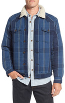 Surfside Supply Co. Faux Shearling Lined Plaid Shirt Jacket
