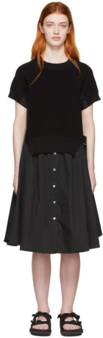 Sacai (サカイ) - Sacai ブラック ニット パネル ドレス