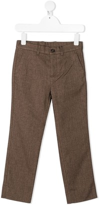 Dolce & Gabbana Kids DG embroidered tailored trousers