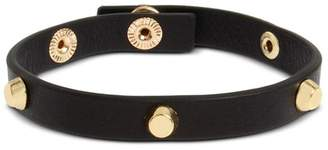 AllSaints Leather Studded Snap Bracelet