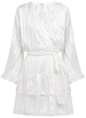 Melissa Odabash Hansen Striped-chiffon Mini Dress - Womens - White