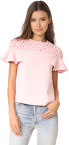 Edit Frill Sleeve Smock Yoke Top