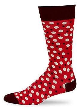 Saks Fifth Avenue Mid-Calf Pop Dot Socks
