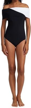 Karla Colletto Swim Aidan Off-The-Shoulder Swimsuit