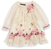 Biscotti Infant Girl's Embroidered Mesh Dress